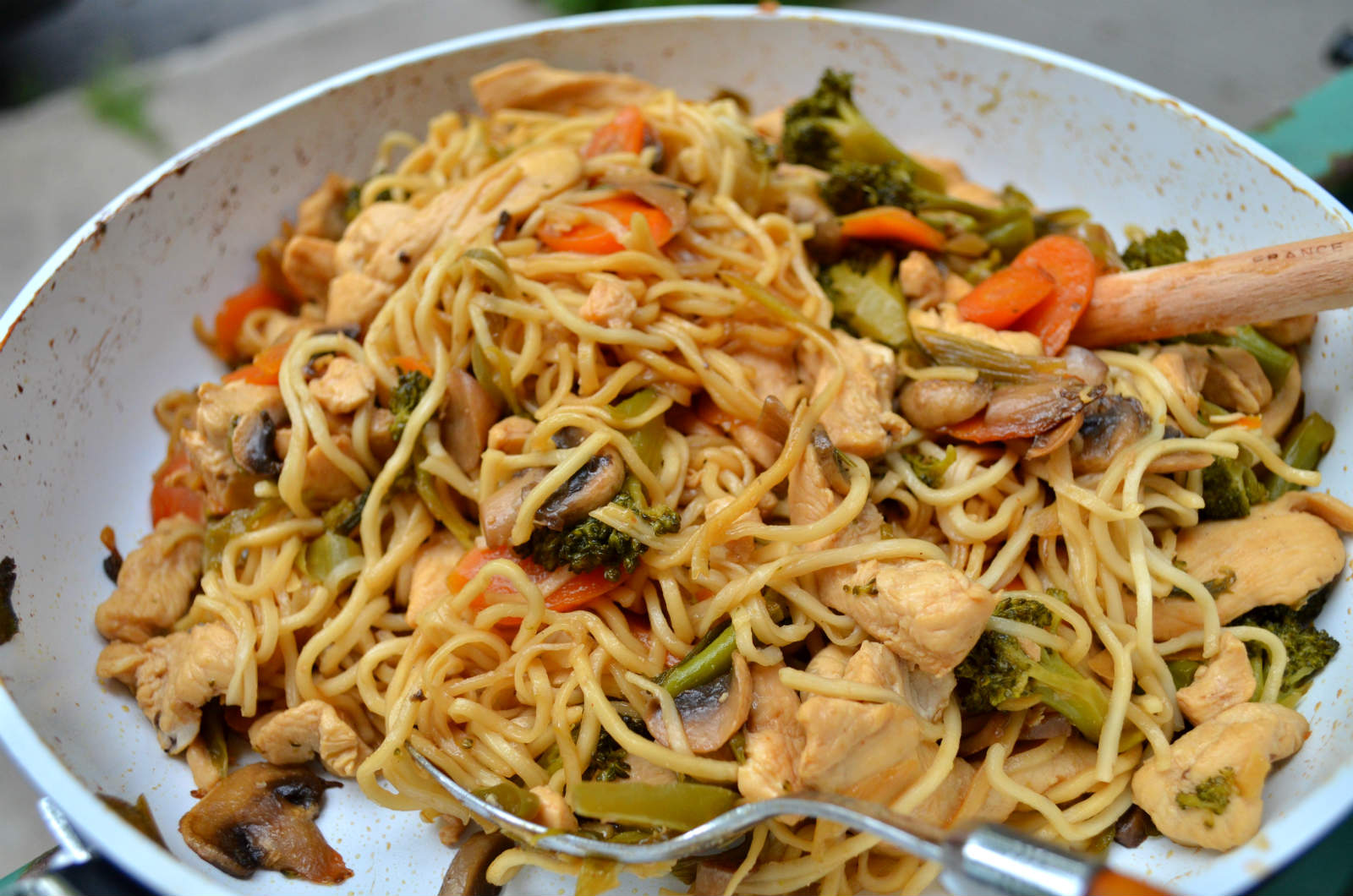 Agree, this Asian chicken and noodles you