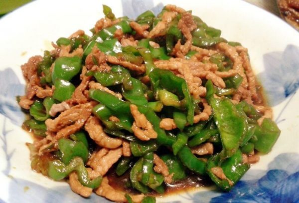 shredded-chicken-with-green-pepper
